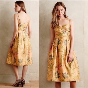 NWOT Anthropologie James Coviello Botanica Dress